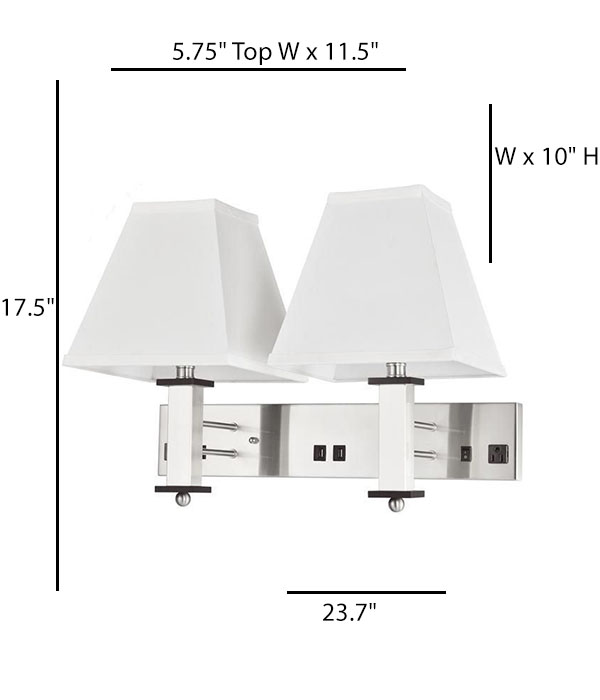 Wall Lamp with 2 elec/2 USB